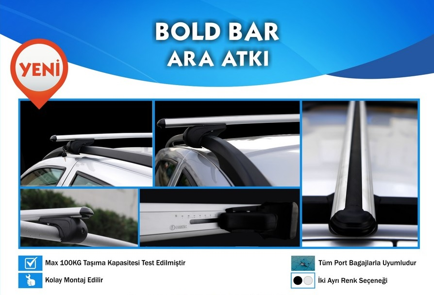 Citroen Berlingo Multispaces 5/96>3/08 > Bold Bar Port Bagaj Ara Atkı Tavan Barı