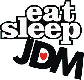 Eat Sleep JDM Sticker 10'lu Paket