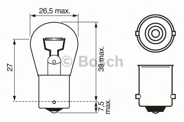 AMPUL 12V R18W BA15S PURE LIGHT