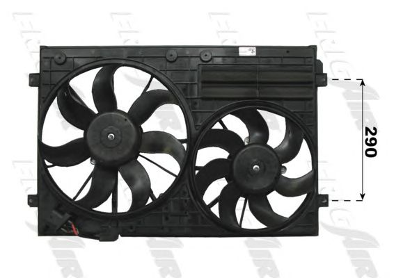 FAN MOTORU CADDY III-GOLF V-POLO-TOURAN-PASSAT-JETTA-OCTAVİA-TELODO 04>292.9MM PERVANELİ DAVLUMBAZSIZ