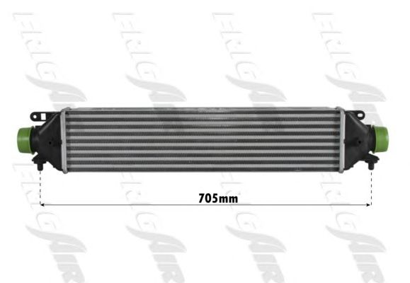 TURBO RADYATÖRU (INTERCOOLER) DOBLO 1.6 MTJ 09=>